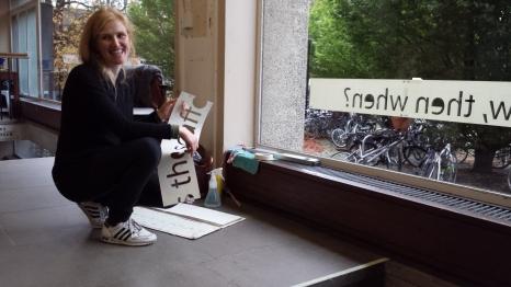 Mirjam Raen Thomassen installs at Sidgwick Site