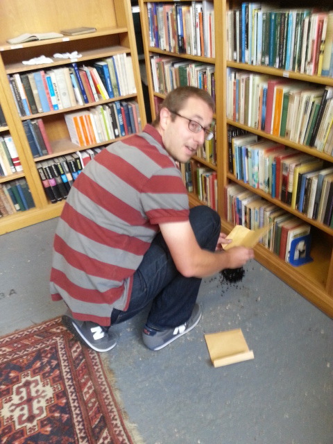 Pete Woodhouse installs at Plurabelle Books