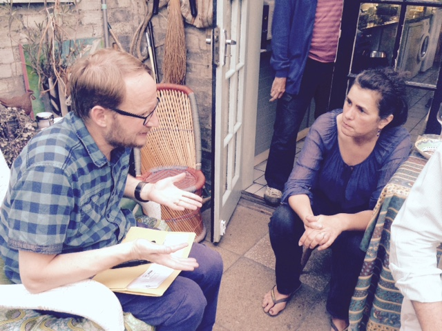 Robert Good talks tactics with Alex Hirtzel