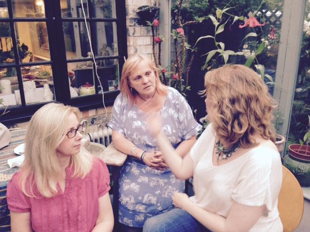 Amanda Morgan, Emma James and Teresa Harrison