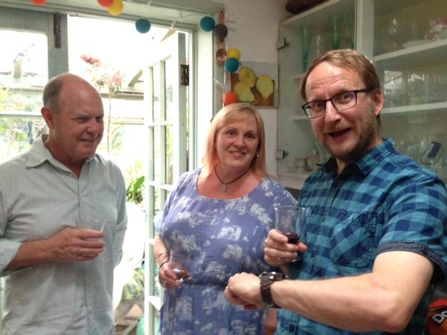 Craig Pinder, Emma James and a slightly surprised Robert Good