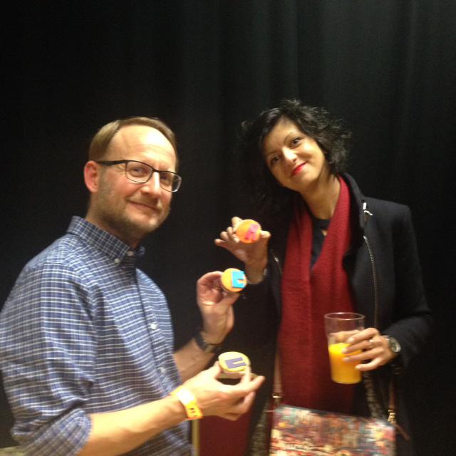 RG and Sara Lerota with ALL cupcakes