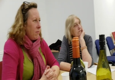 Rebecca and Rosemary listen in
